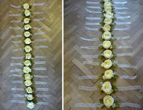 všetky slobodné dievčatá na svadbe dostanú kvietok na ruku... chcela som, aby im zostala na našu svadbu nejaká pamiatka, tak som sa pustila do vyrábania... :o)