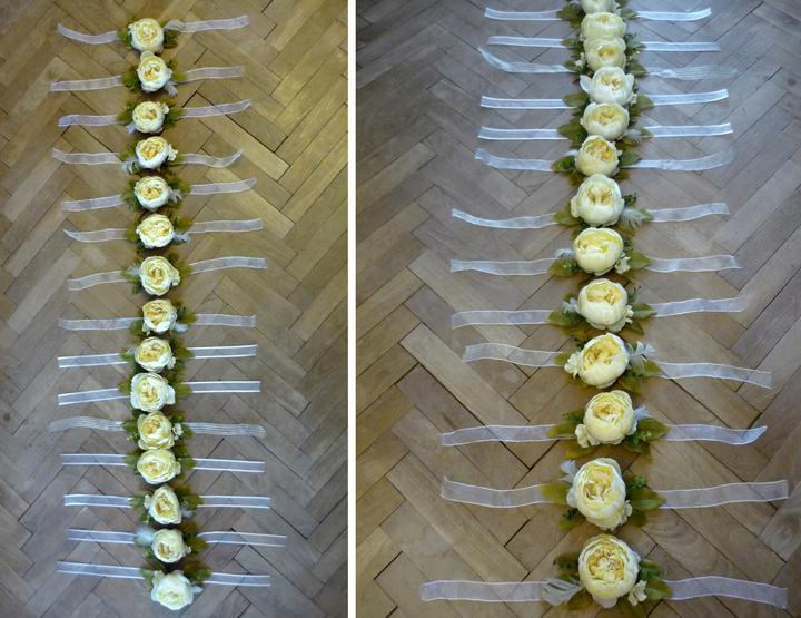 Just little something... - všetky slobodné dievčatá na svadbe dostanú kvietok na ruku... chcela som, aby im zostala na našu svadbu nejaká pamiatka, tak som sa pustila do vyrábania... :o)