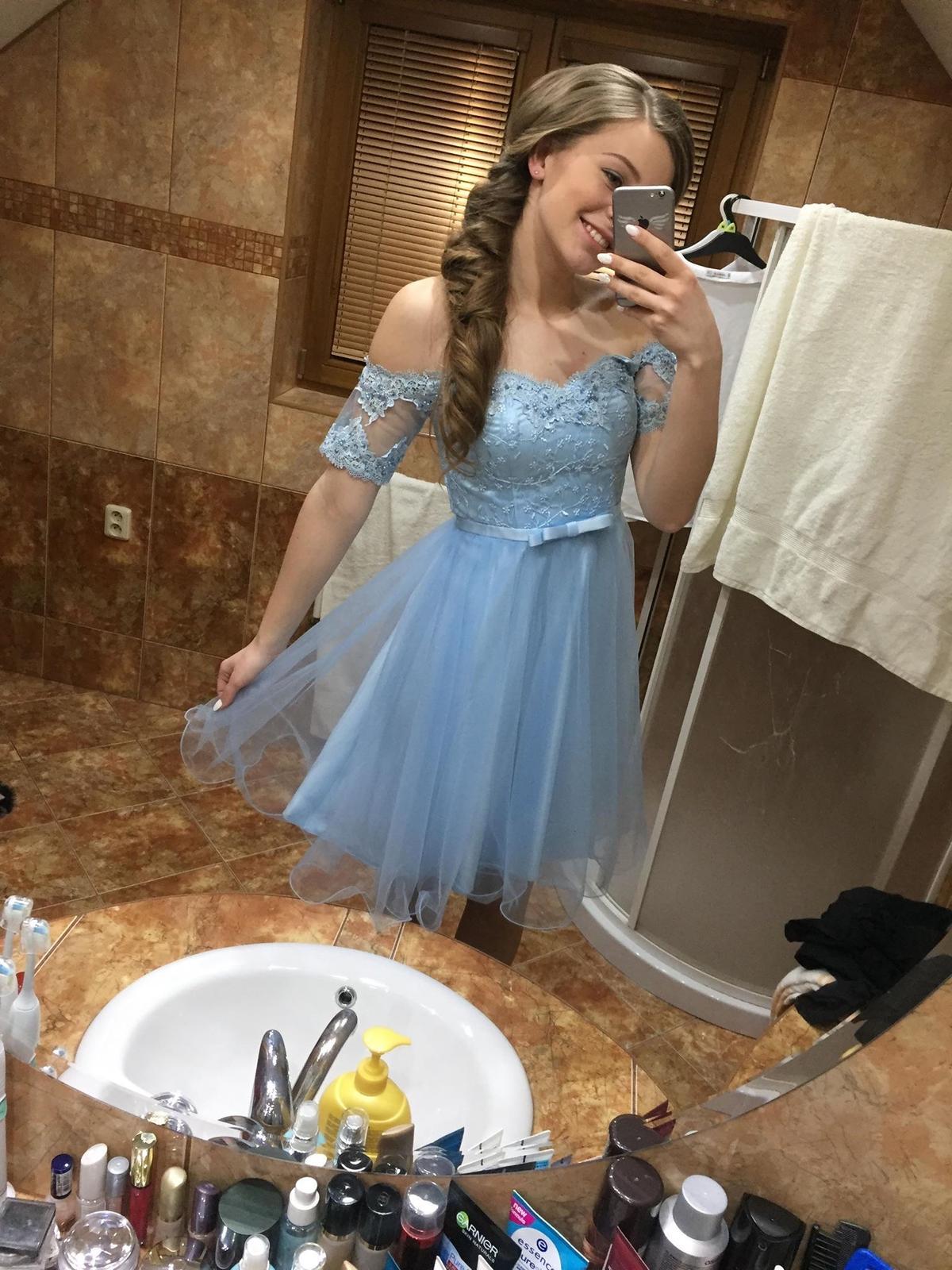 Šaty nebíčkovo modré - Obrázok č. 1