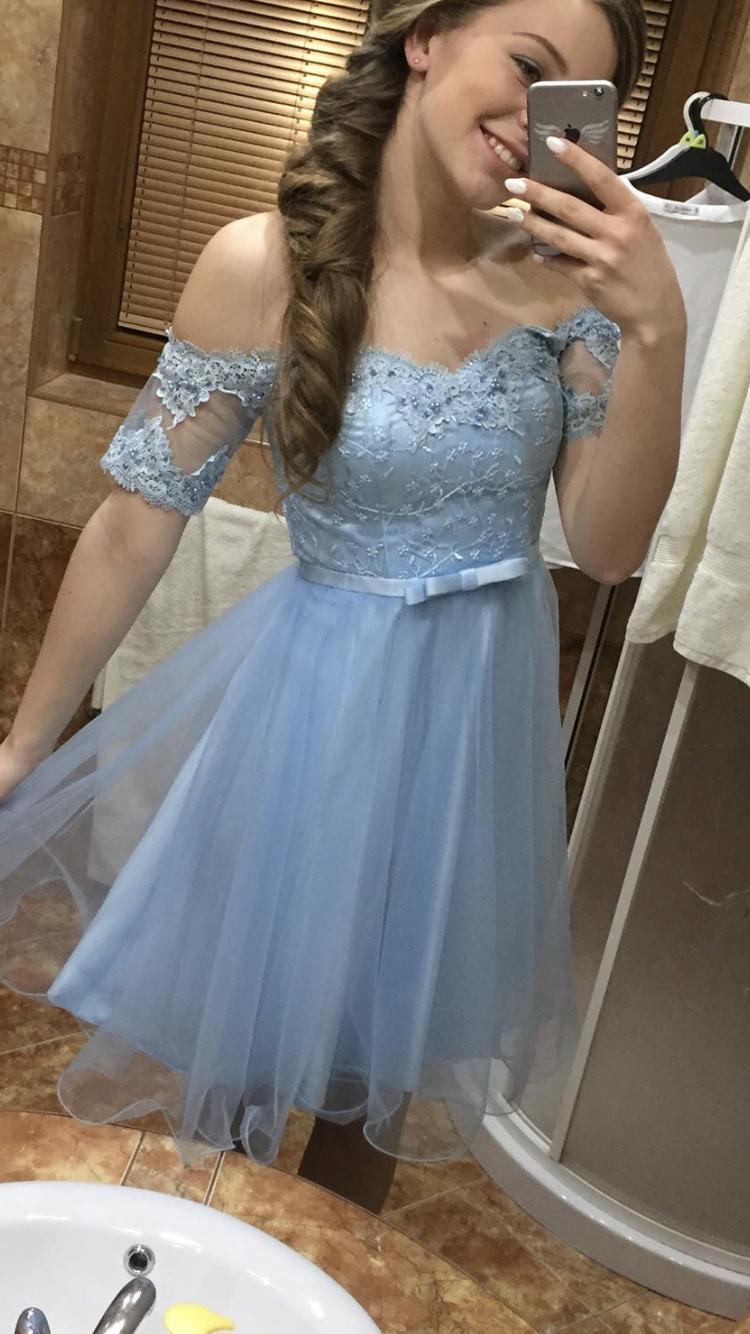 Šaty nebíčkovo modré - Obrázok č. 2