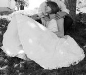 Krajkové svatební šaty pod kolena, 38