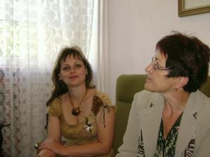 svědkyně nevěsty Olinka s ženichovou maminkou