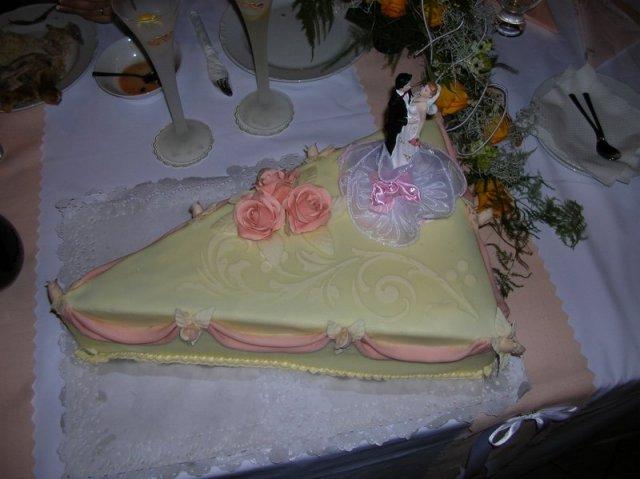Plány a realita - naša svadobná torta