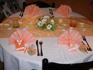 """to je moje zkouška vyzdobeného stolu ...svatební tabule bude do """"T"""""""