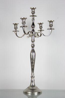 5-ramenný strieborný svietnik 60 cm  - Obrázok č. 1
