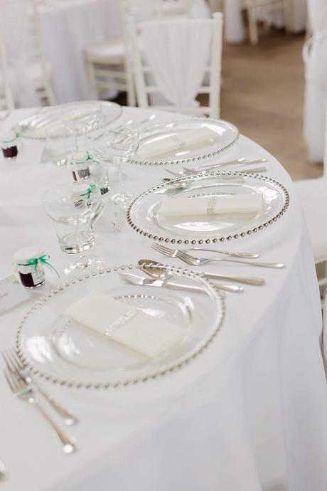 Klubový tanier s perličkovým strieborným okrajom  - Obrázok č. 1