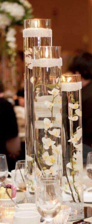 Prenájom sklenených váz alebo svietnikov 3 set  - Obrázok č. 1