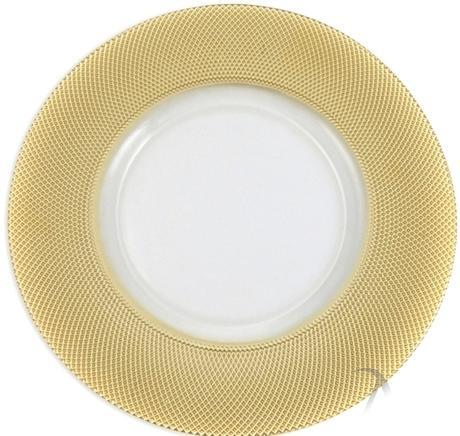 Prenájom klubových tanierov so zlatým okrajom  - Obrázok č. 1