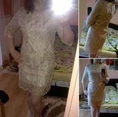 Zlaté čipkované šaty, M