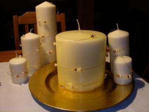 ozdobené svíčky-samovýroba