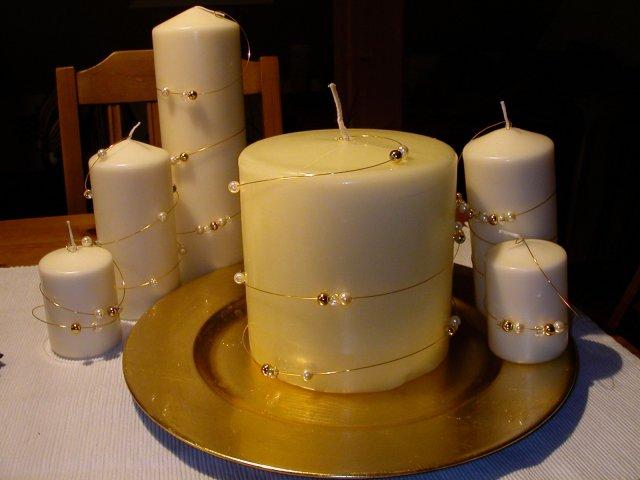 Šaru a Zdeny - ozdobené svíčky-samovýroba