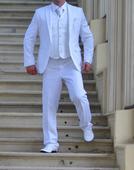 Pánsky svadobný oblek veľkosť 54 komplet vesta , 54