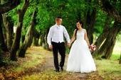 Svadobné šaty z organzy s čipkou, 37