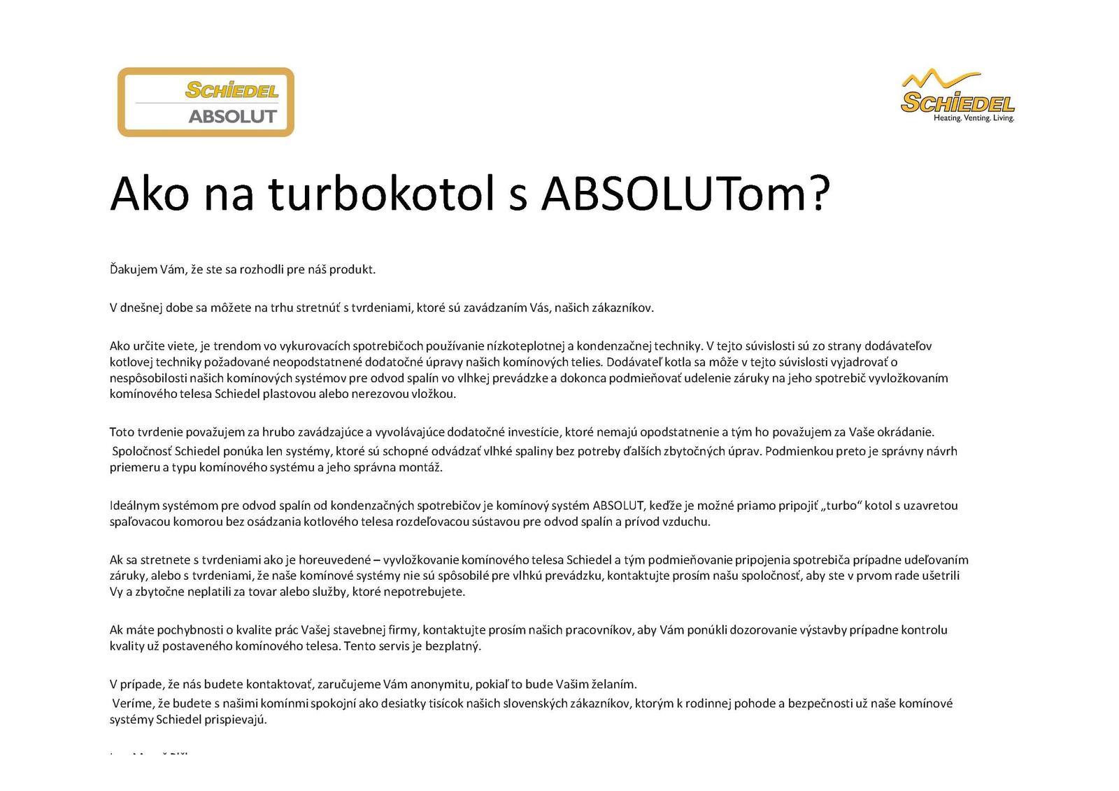 Ako napojiť kondenzačný kotol na komín ABSOLUT bez potreby vložkovania - Obrázok č. 1