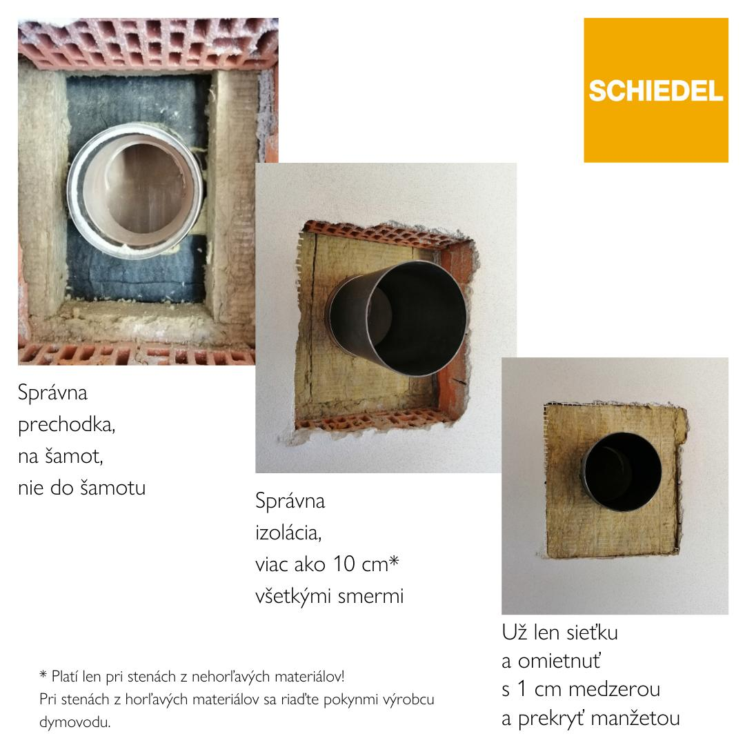 Ako urobiť prechod dymovodu cez stenu z nehorľavých materiálov - https://www.facebook.com/schiedel.sk