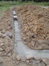 Vylité základy betonem :-)
