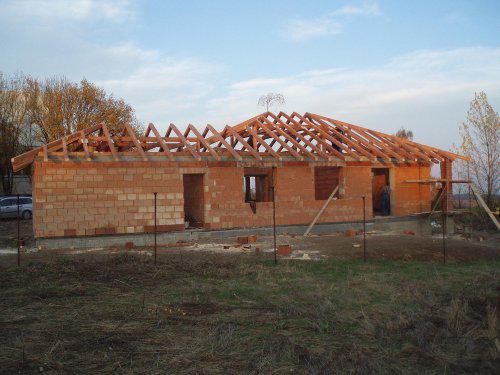 Tak stavíme II - Krov hotov! 5.11.08