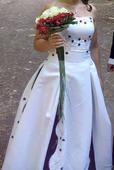 Svatební šaty velikost 34-38, 36