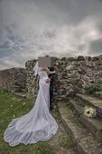 Svatební šaty římského stylu pro menší nevěstu, 38