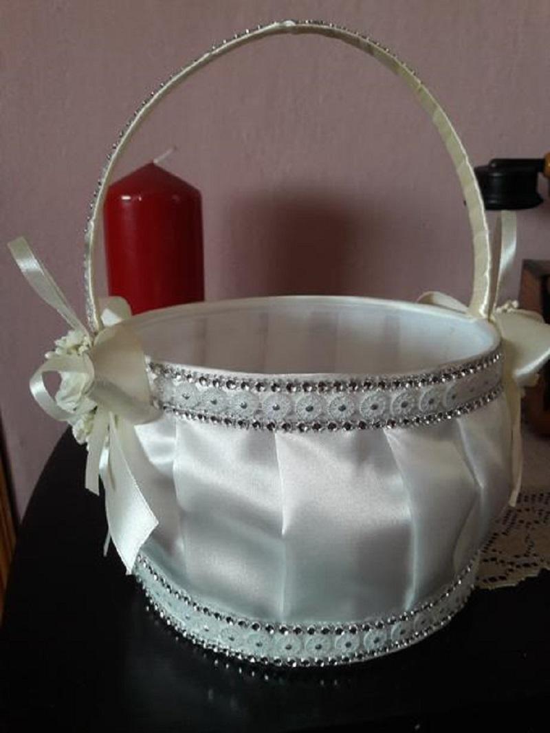 Svadobný košík s lupeňmi - Obrázok č. 1