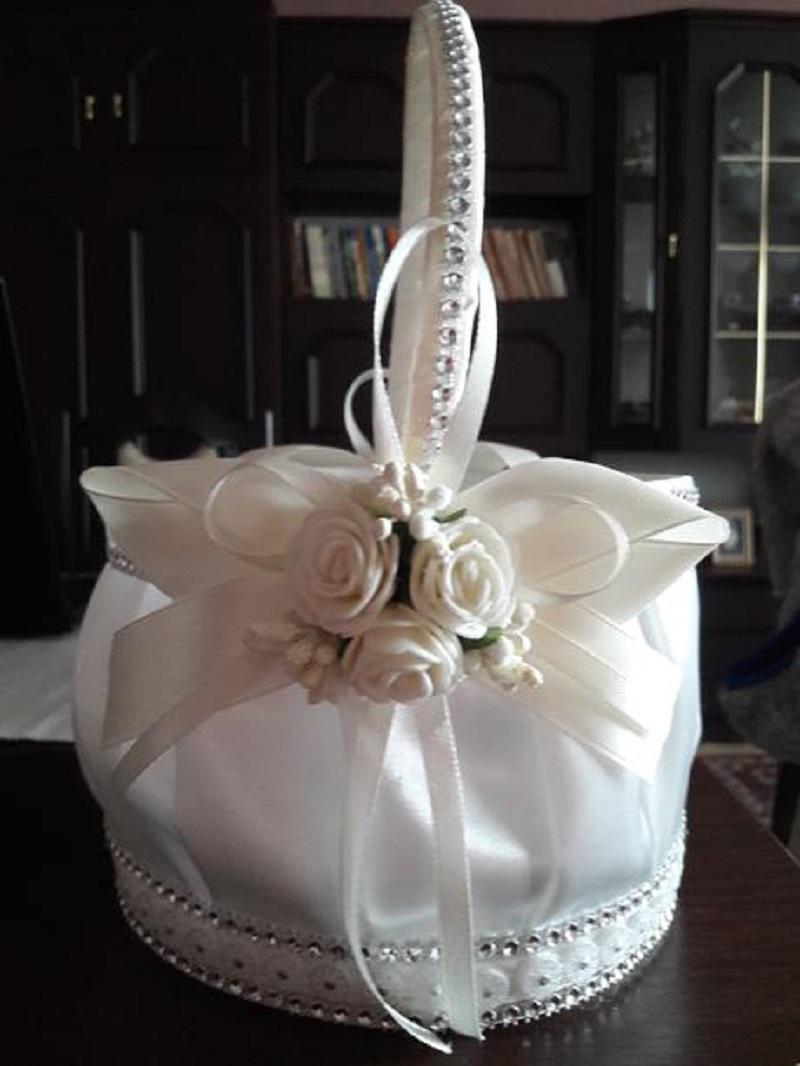 Svadobný košík s lupeňmi - Obrázok č. 2