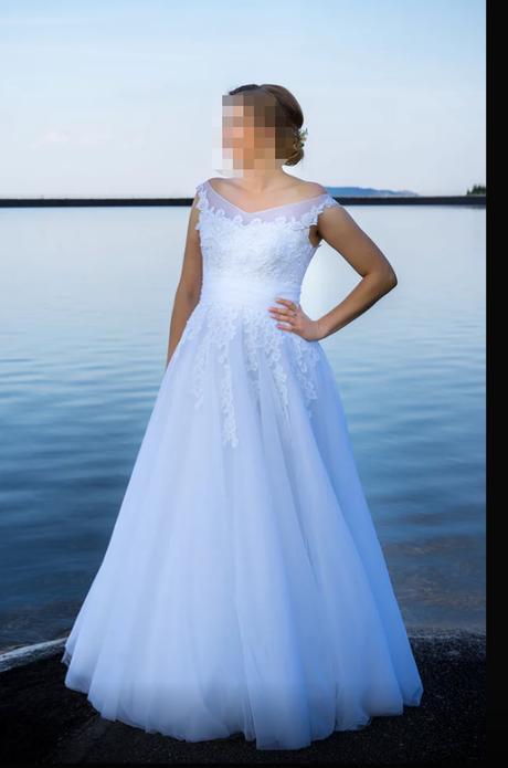 Svadobné šaty so zavojom (38/40) - Obrázok č. 1
