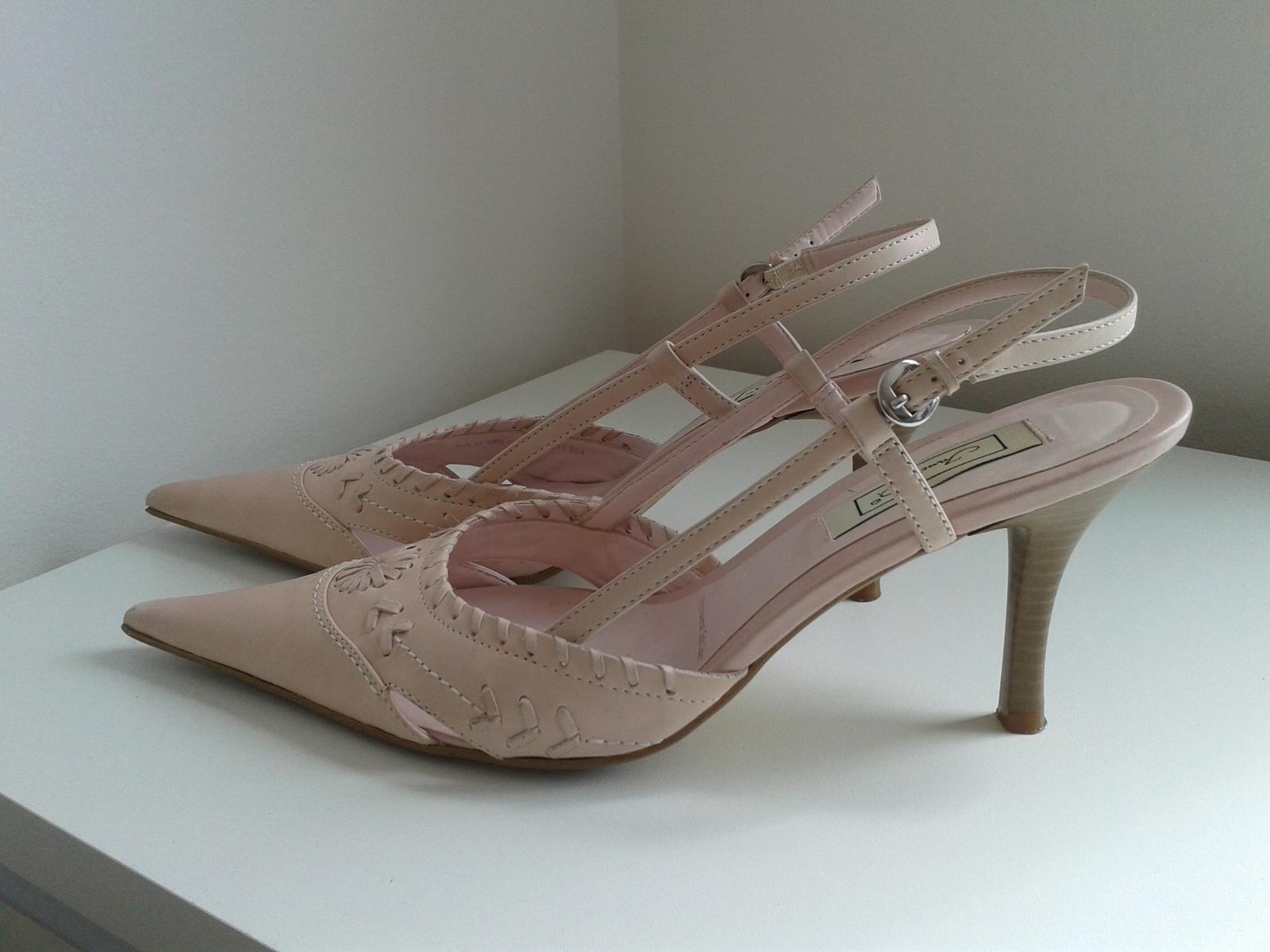 Elegantní jarní/letní lodičky, barva nádech růžové - Obrázek č. 3