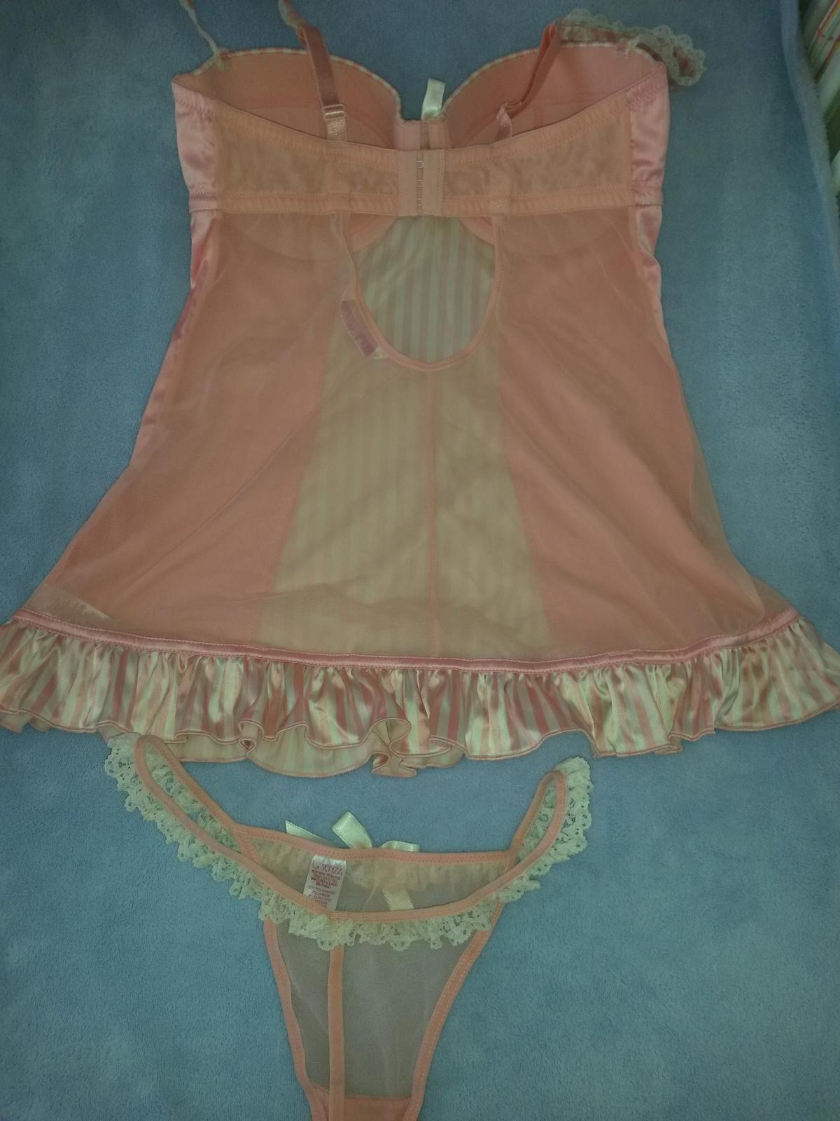 Růžové spodní prádlo - body a tanga, la Senza,nové - Obrázek č. 2