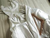 svatební šaty, ruční práce, top stav. Top krajka, 40