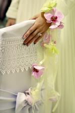 svadobná kytica - náramok