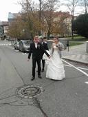 svatební šaty+DEKORACE PRODANÁ, 36