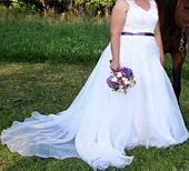 Svatební šaty velikost 44-46, 46