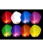 Lampióny šťastia (farebný mix 10 kusov ),