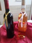 Stužka na fľašu s perličkou zlatej farby,