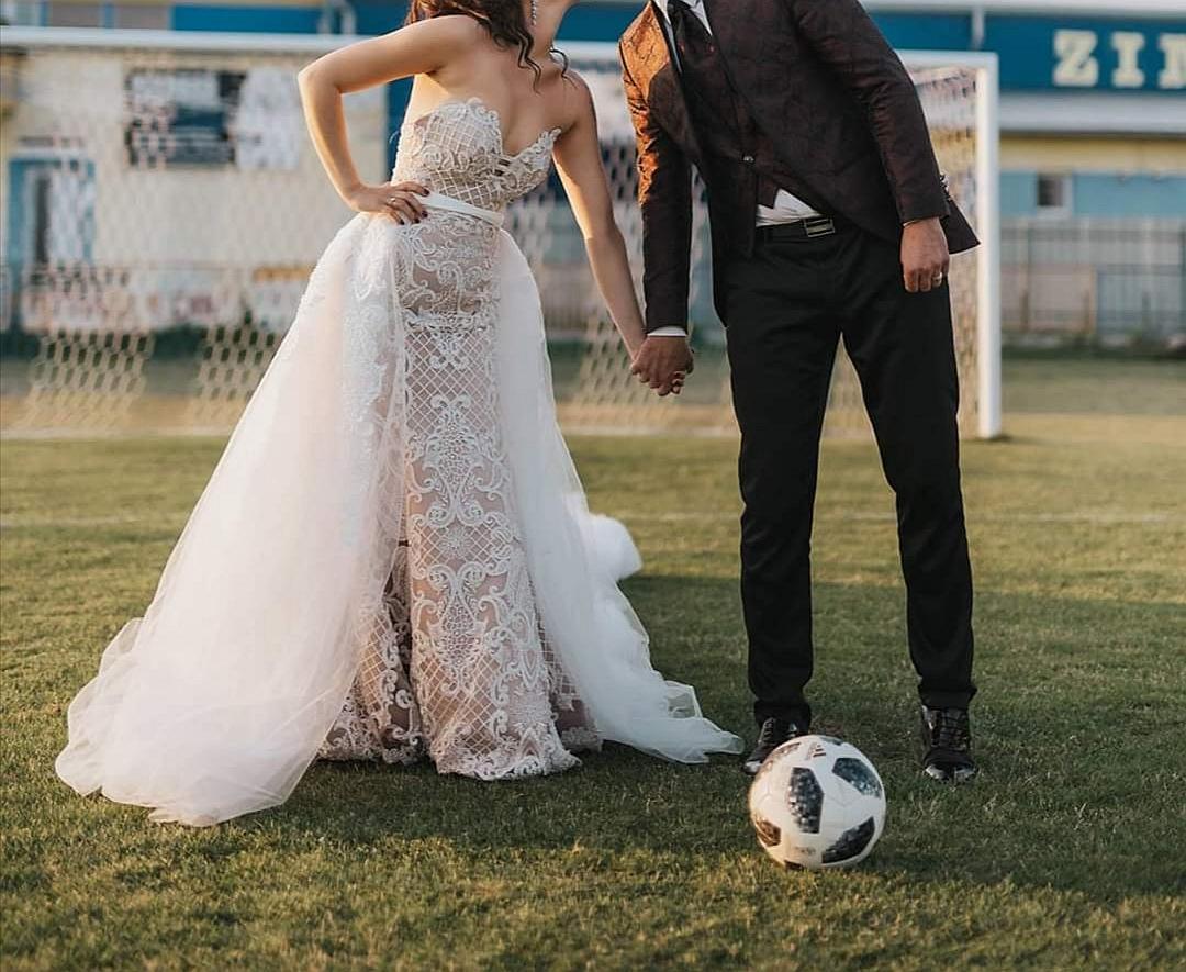 Luxusné svadobné šaty 3v1 /3D čipka - Obrázok č. 3