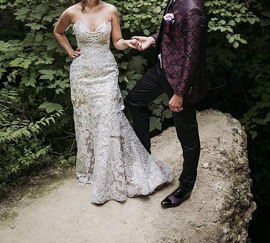 Luxusné svadobné šaty 3v1 /3D čipka - Obrázok č. 4