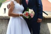 Svatební šaty, vel. 38 - 42, 3500 kč, 40