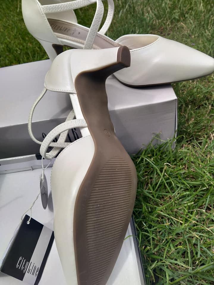 Svatební boty bílé - Obrázek č. 1