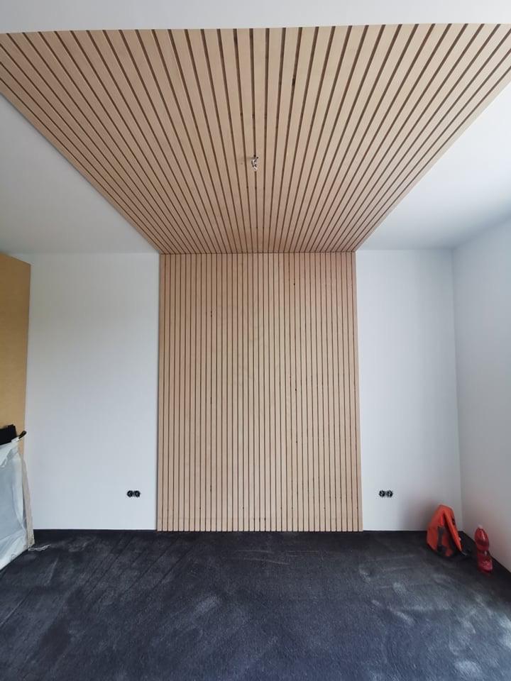 Lamelový panel na stenu/strop - stena a strop lamelový panel natur