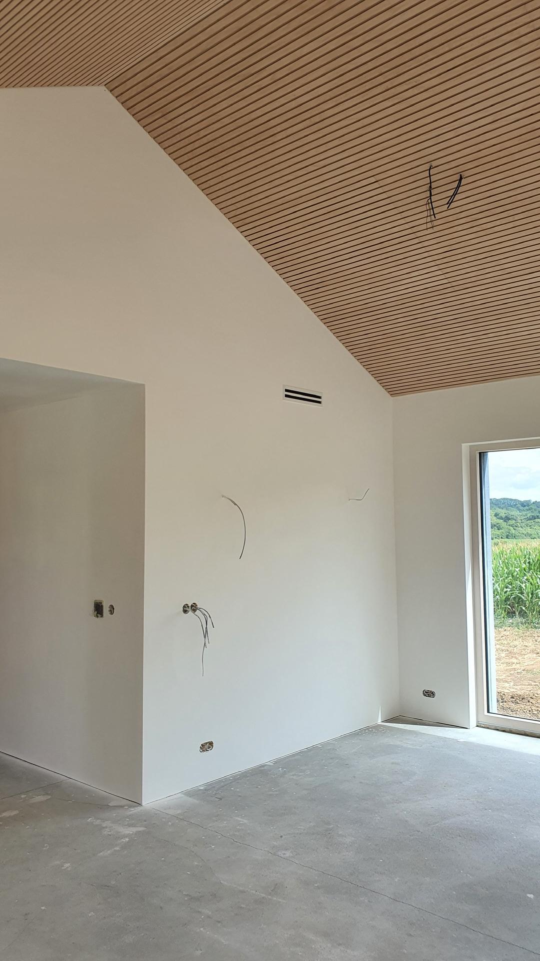 Lamelový panel na stenu/strop - a- ckovy strop lamelový panel natur