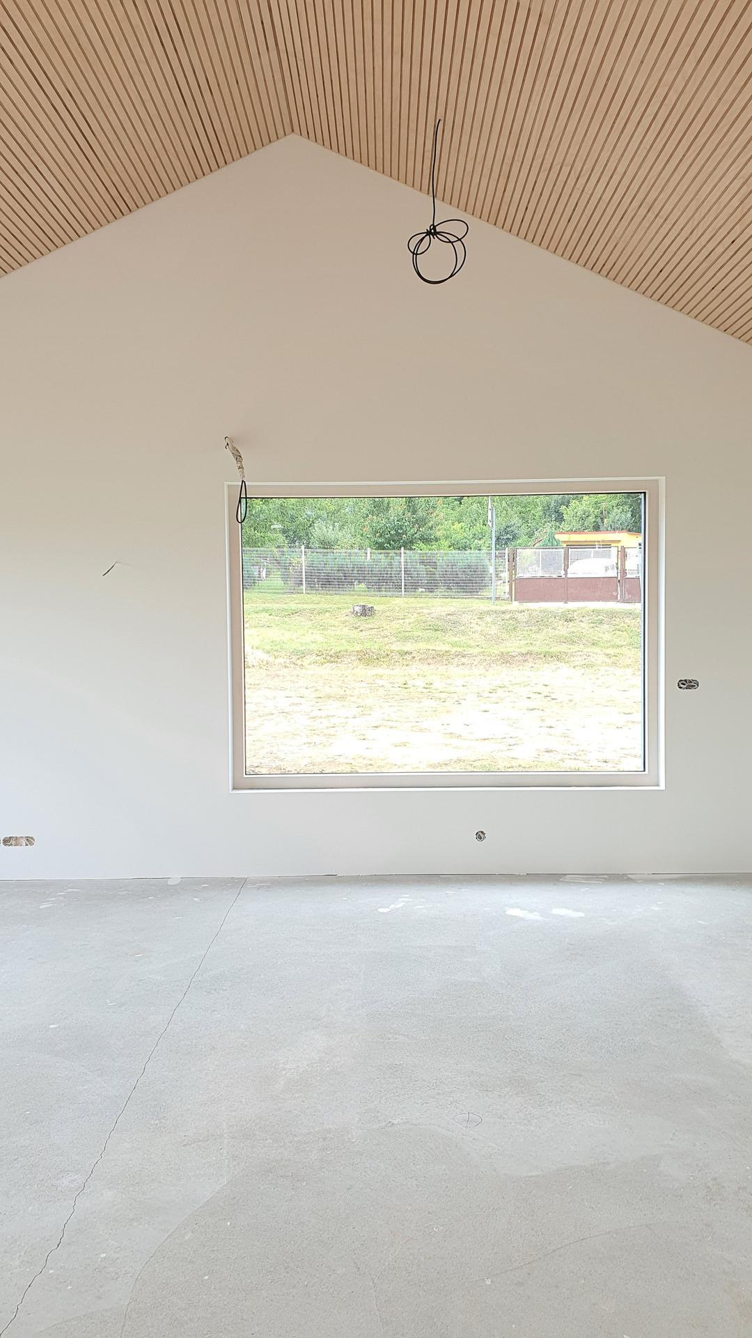 Lamelový panel na stenu/strop - a- ckový strop, prevedenie natur lamelový panel