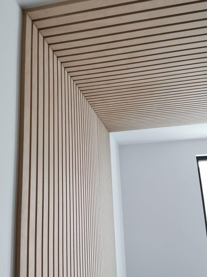 Lamelový panel prevedenie natur / transparent - obklad stena a strop, prevedenie natur lamelový panel