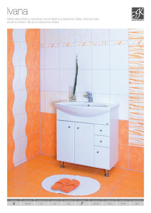 Kúpeľňa - Tento obklad aj dlažbu sme kúpili do kúpelky. chceli sme niečo optimistické a rozjasňujúce