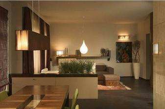 Predelenie jedálenskej časti od obývacej