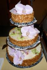svatební dort - jogurťák může taky vypadat svatebně! bez marcipánu :-)