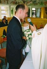 Ja, Tibor, beriem si teba, Elena, za manželku...