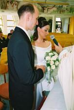 Ja, Elena, beriem si teba, Tibor,za manžela...