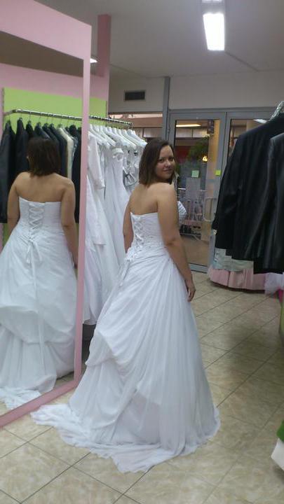 Na začiatok...až k Cieľu - Šifónové šaty snehobiele W1 Teresa