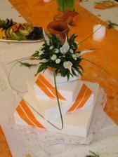 svatební dort,vypadá uměle,ale byl úžasnej