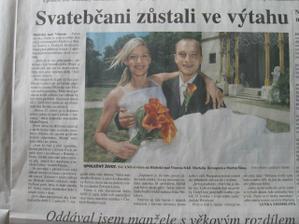 byl o nas članek i v novinach